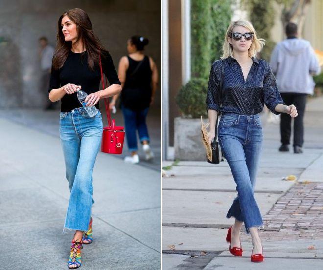 джинсы клеш 2018 год