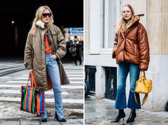 образ с джинсами клеш 2018