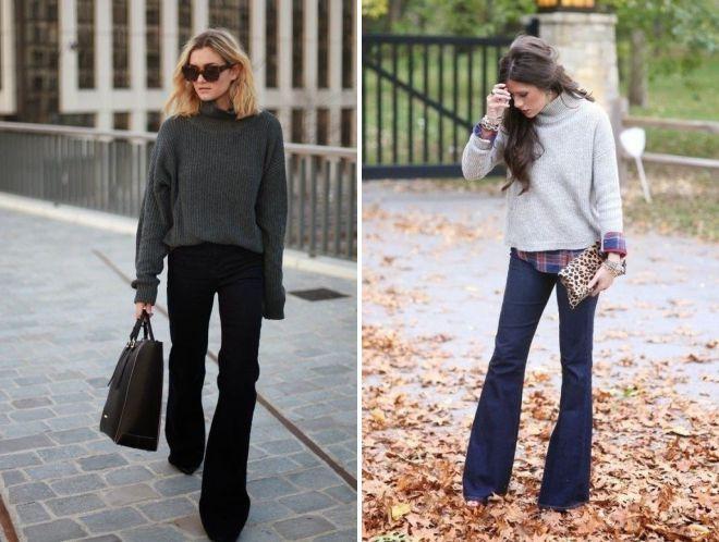 джинсы клеш при маленьком росте