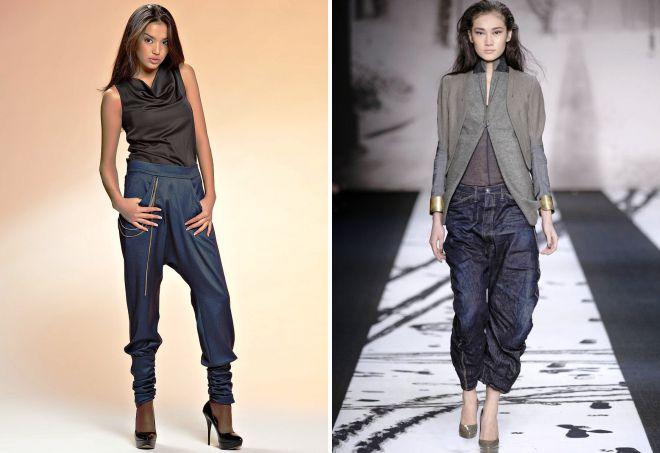 джинсы с мотней для девушек