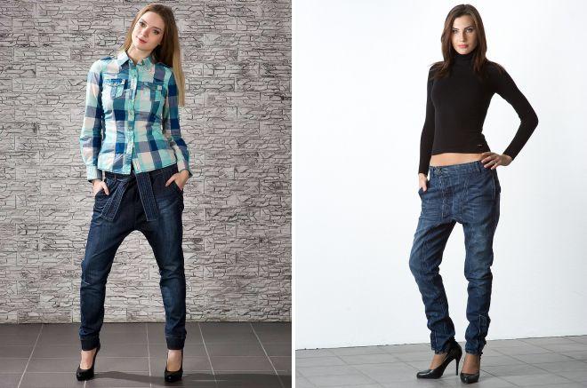 модные штаны с мотней