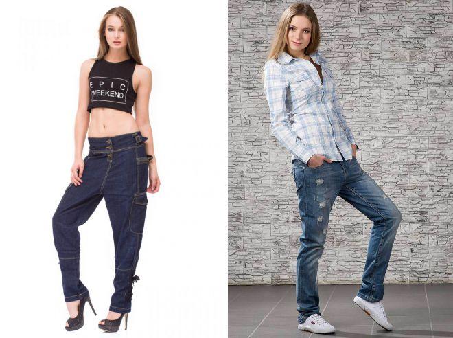 джинсы с мотней