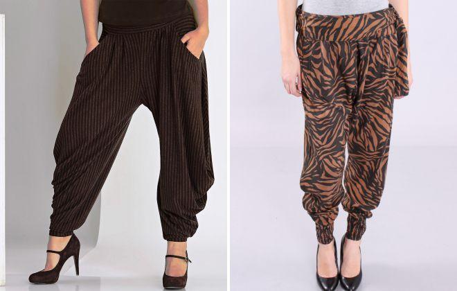 широкие женские штаны с мотней