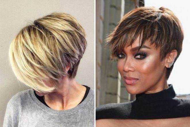женские модные стрижки 2018 на короткие волосы