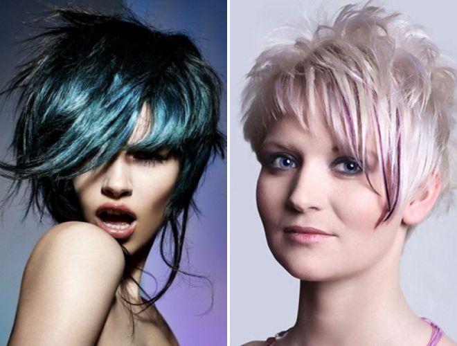 модные креативные стрижки на короткие волосы 2018