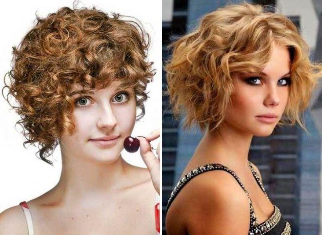 короткие стрижки 2018 на вьющиеся волосы