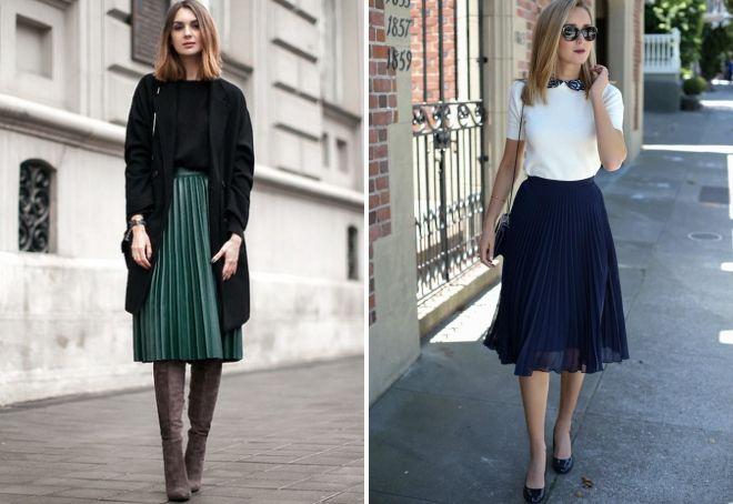 с чем носить юбку весной