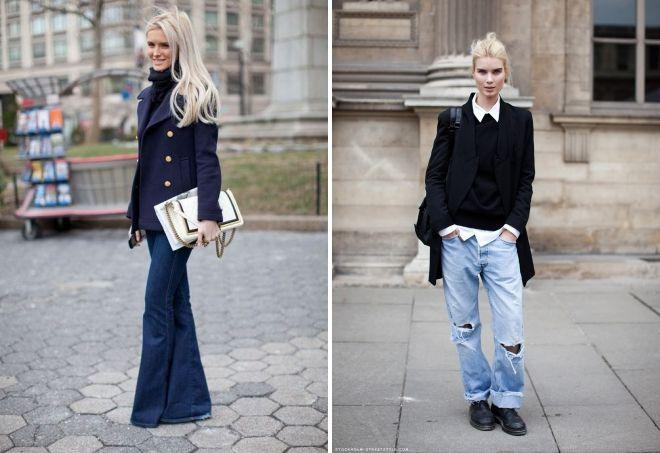 с чем носить джинсы весной