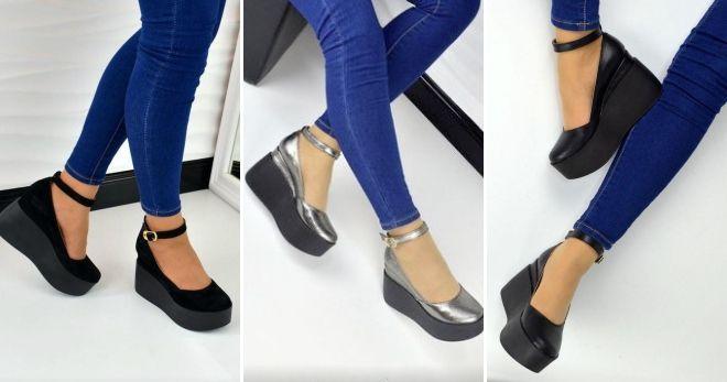Туфли под синие брюки черные