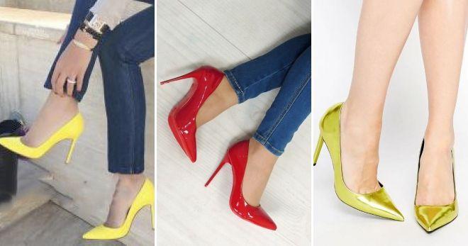 Туфли под синие брюки яркий
