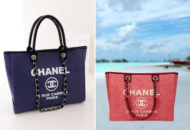 пляжная сумка шанель