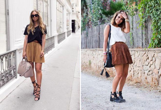 короткая замшевая юбка