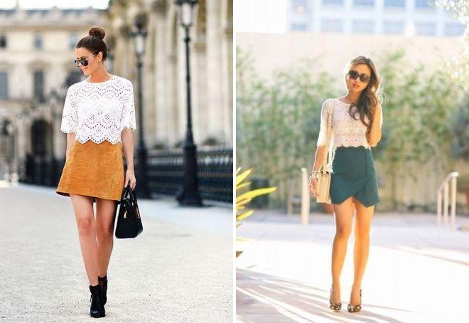 замшевая юбка в моде
