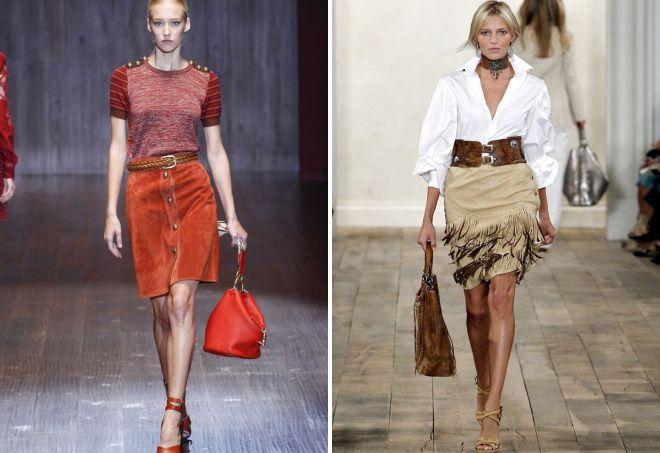 модные замшевые юбки