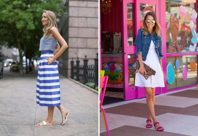 Sandály bez podpatků - nejlepší obrázky pro léto s šortky a šaty c5019e3d19