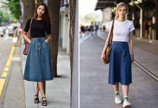 джинсовые юбки 2017