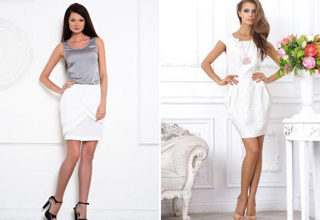 белая юбка тюльпан