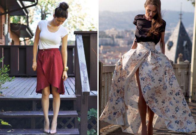 юбка тюльпан с запахом