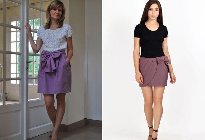 короткая юбка тюльпан