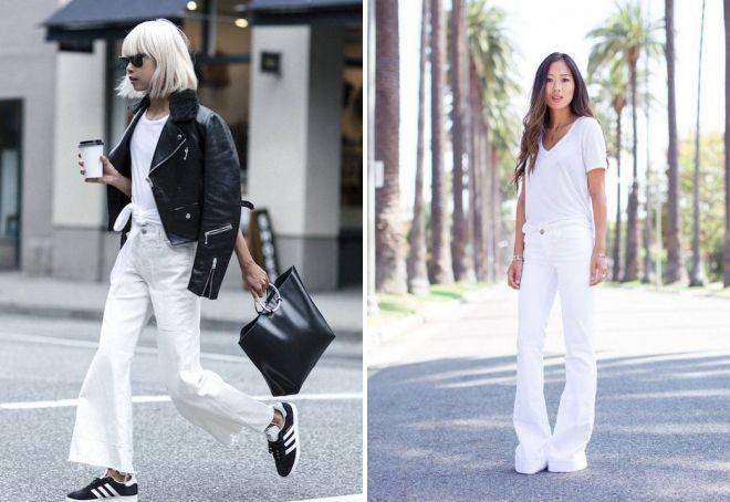 белые джинсы 2017