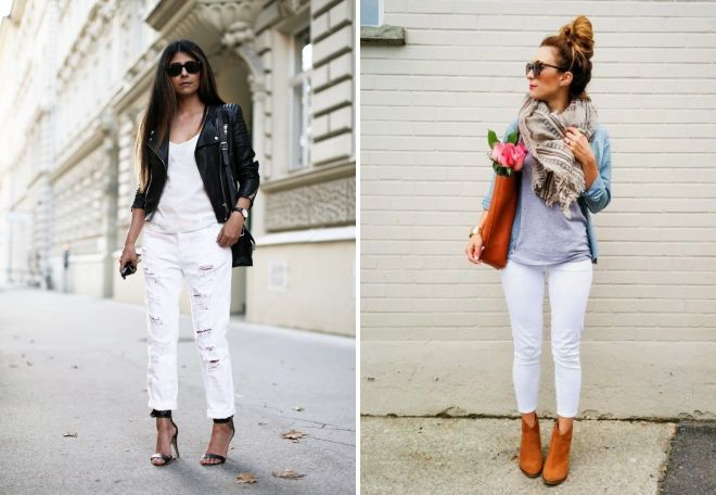 обувь под белые джинсы