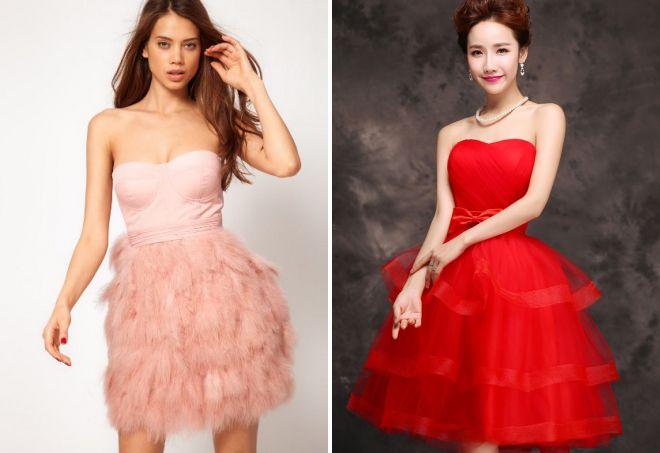 пышные летние вечерние платья