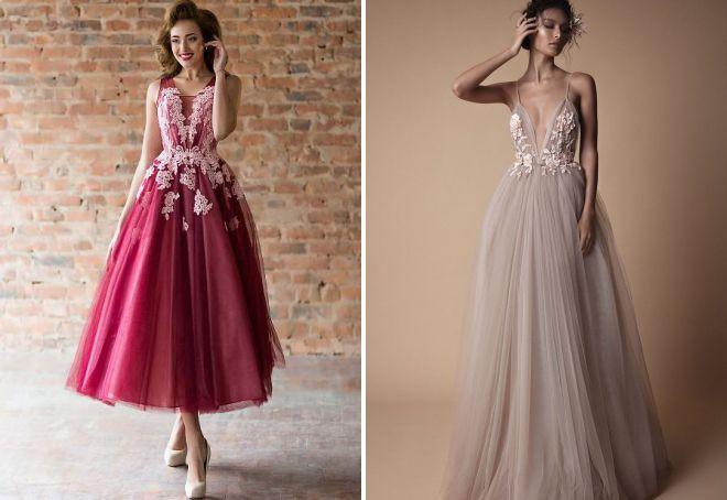 фасоны летних вечерних платьев