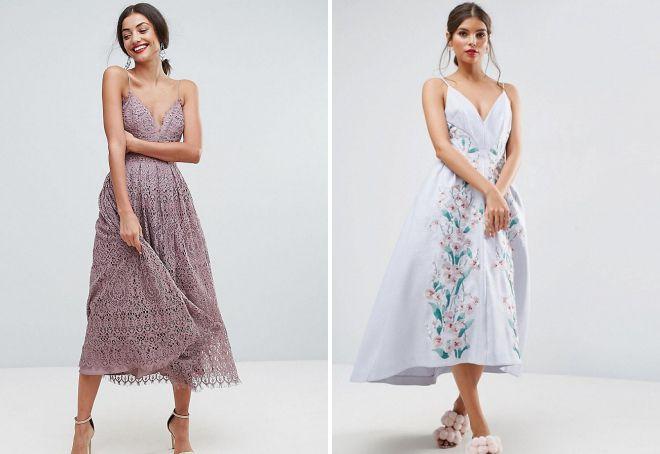 летние вечерние платья для девушек