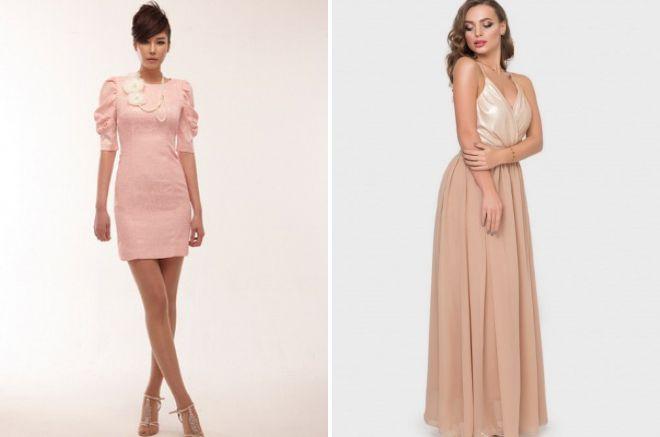 модели вечерних летних платьев