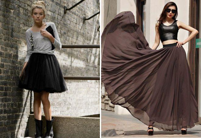 многослойная пышная юбка