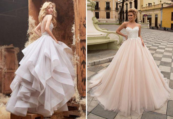 длинные многослойные юбки