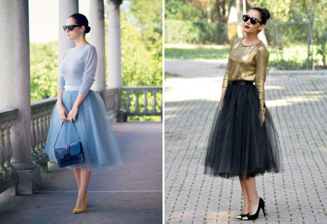 с чем носить многослойную юбку