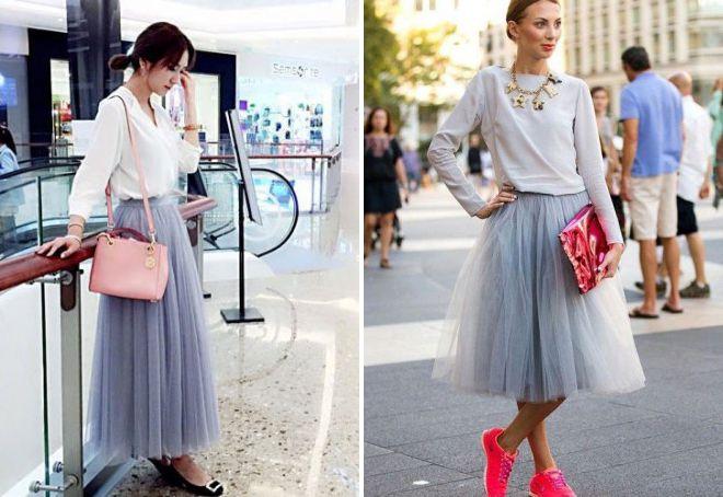 модная многослойная юбка