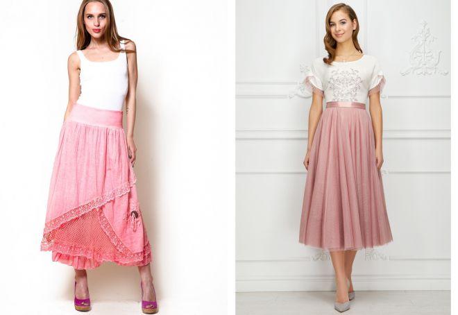 красивые многослойные юбки