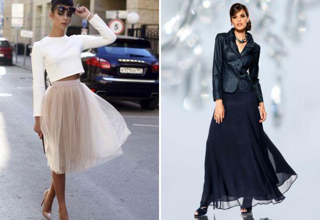 многослойные юбки для девушек