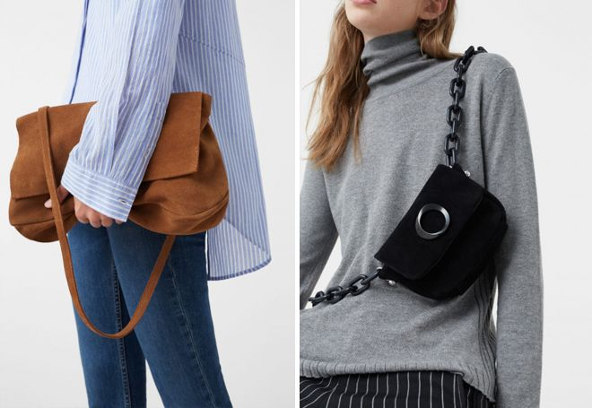 c81f9b86f029 Модные женские замшевые сумки – коричневая, серая, бежевая, черная ...