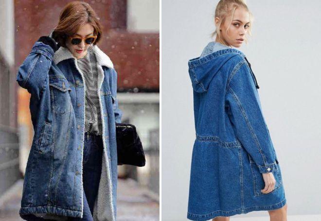 49776de0a95 Модная женская джинсовая парка – зимняя