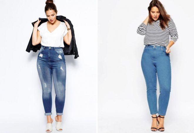 5b08b9633b5 Модные женские джинсы с высокой талией – прямые