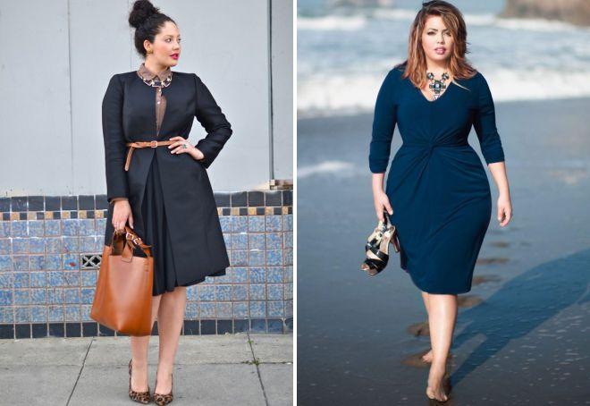 платья городской стиль для полных