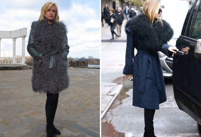 c1d0af4e817 Стильное женское кожаное пальто с мехом – зимнее