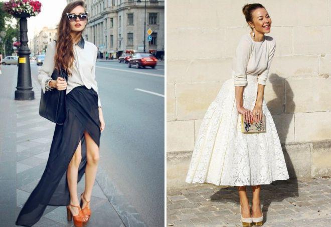 романтический стиль юбки