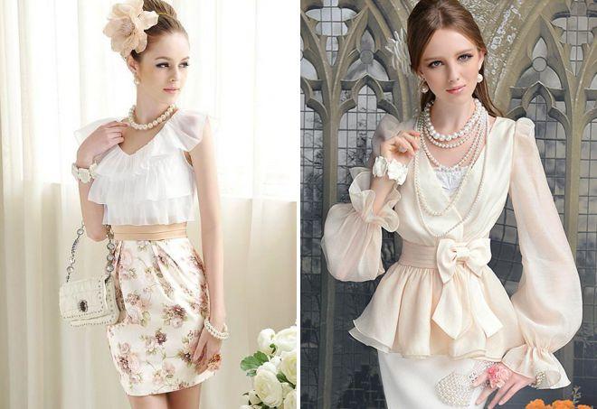 6252d13516a9 Романтический стиль для девушек – верхняя одежда, обувь, платья ...