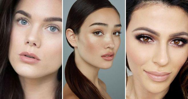 Нюдовый макияж губ мода