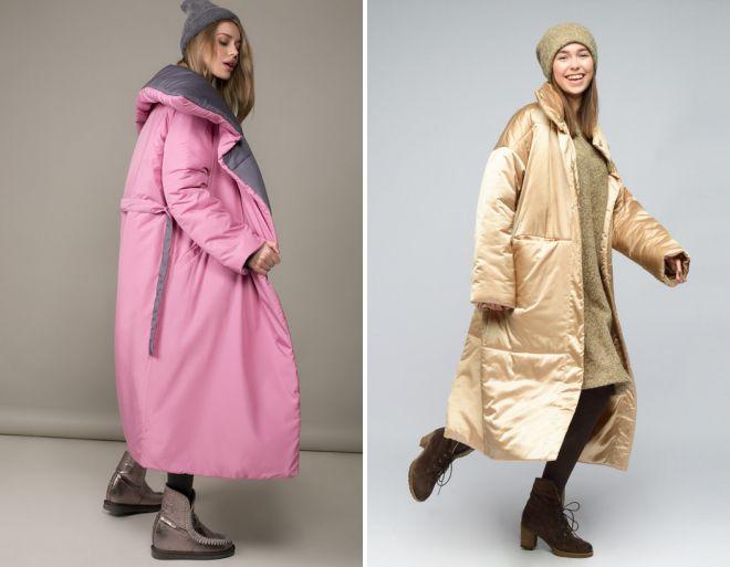 пальто оверсайз в пол