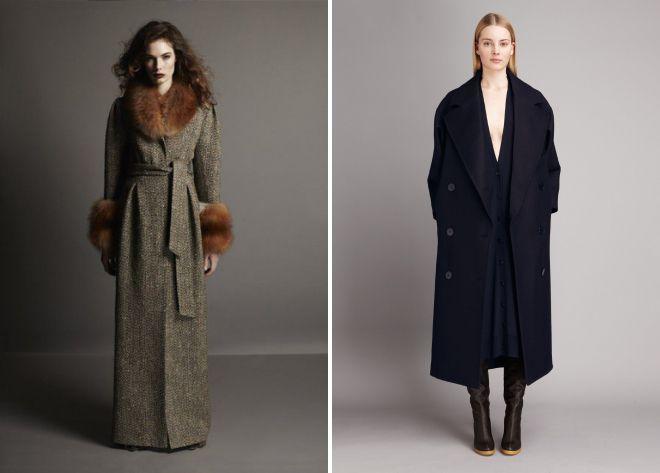 длинное пальто в пол 2018
