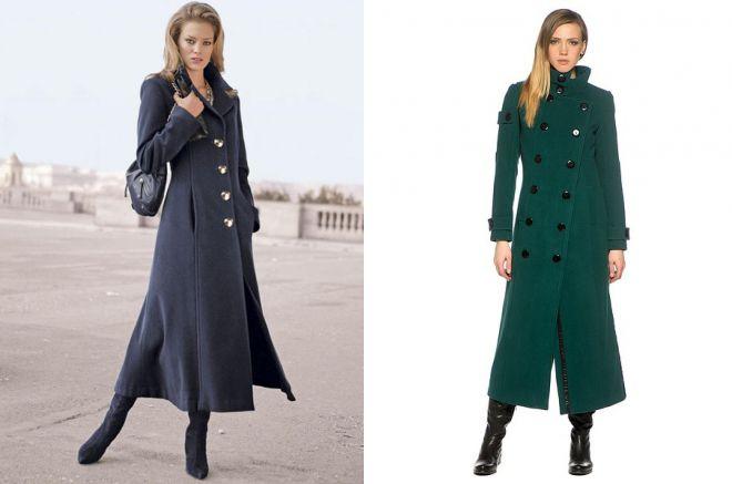 приталенное пальто в пол