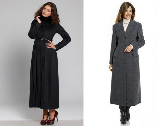 длинное пальто в пол