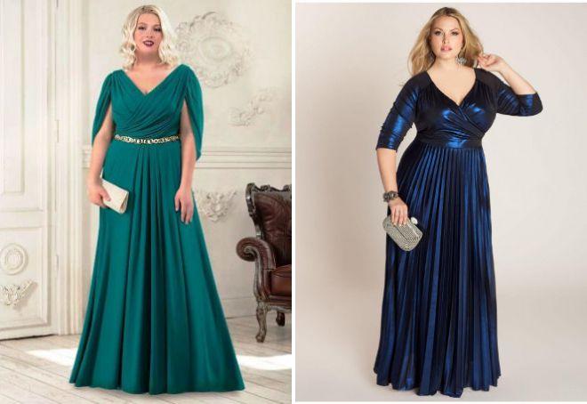 Красивые вечерние платья для полных женщин крой