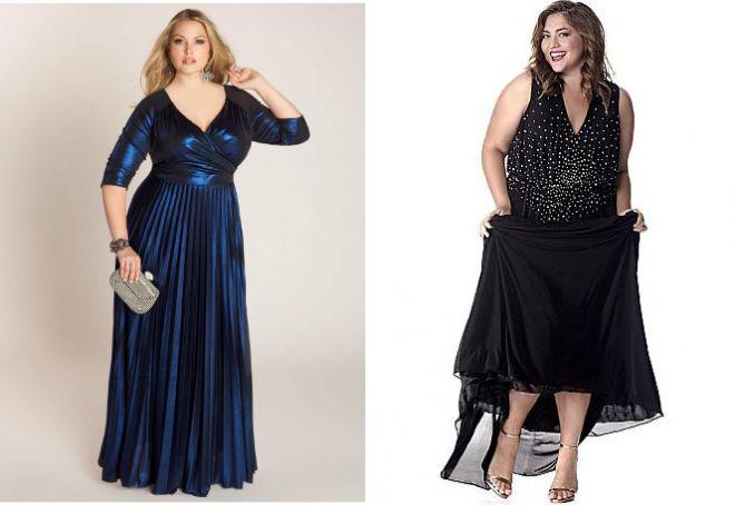 Красивые вечерние платья для полных женщин ткань