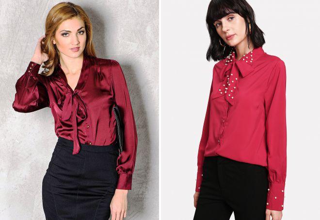 красивая красная рубашка для девушек